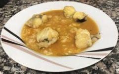 receta arroz con rape y gambas
