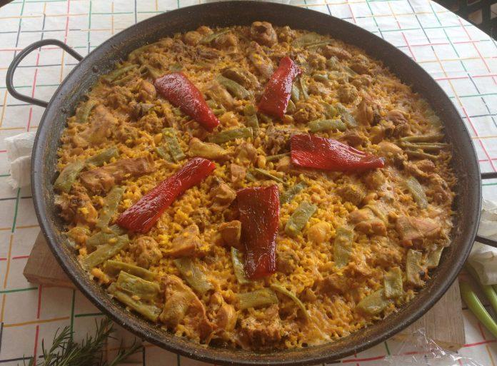 receta paella valencia auténtica
