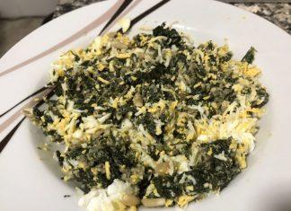 receta relleno espinacas, atún y huevo