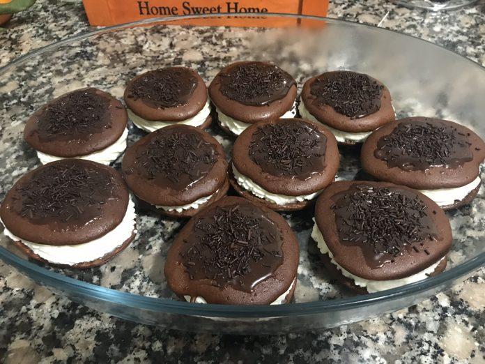 receta whoops de chocolate y nata