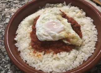 receta arroz a la cubana tradicional