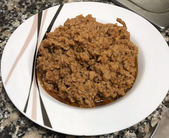 receta carne picada con verduras