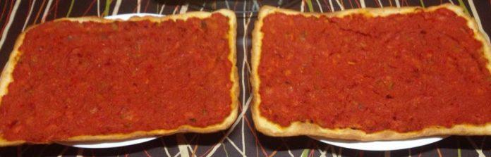 receta coca tomate y pimiento