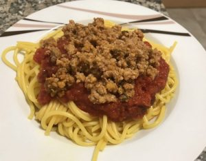 receta espaguetis con carne y tomate