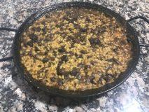 receta paella de morcilla
