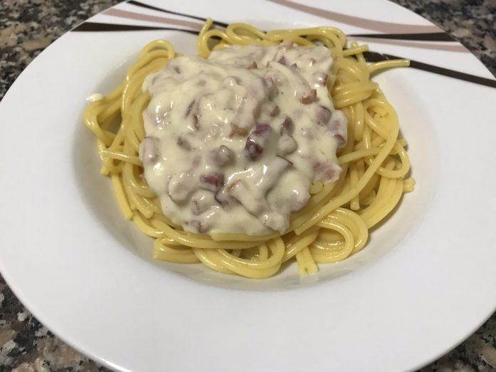 receta espaguetis carbonara