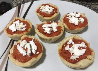 receta tartaletas sobrasada y queso de cabra