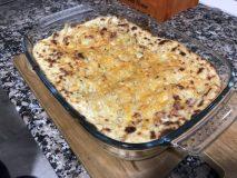 receta fetuccini gratinados