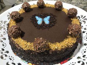 receta tarta de ferrero roche