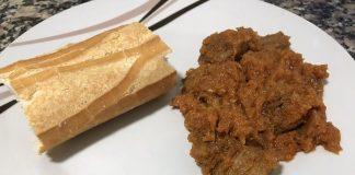Receta de carne magra en trozos con salsa de tomate
