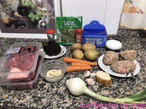 Receta de guisado ingredientes