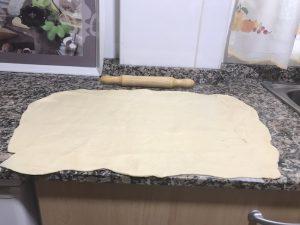 extensión de la torta de pan con Thermomix.