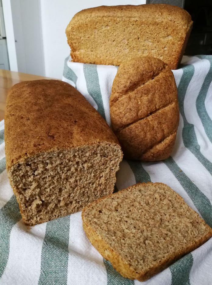 delicioso pan de espelta integral con Thermomix