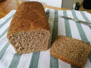 resultado del pan de espelta integral con Thermomix
