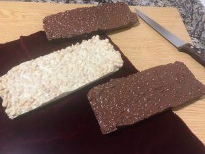 Turrón crujiente de chocolate con Thermomix