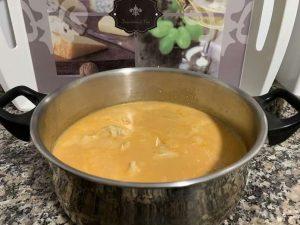 Merluza en salsa de almendras con Thermomix