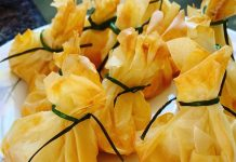 receta de saquitos de queso de forma tradicional