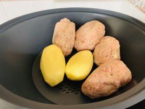 Pelotas y patatas para cocido