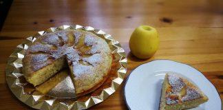Tarta de manzana de forma tradicional.