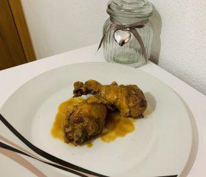 Receta de pollo al vino tinto con Thermomix