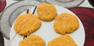 Receta de hamburguesas de pollo y zanahoria