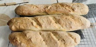 baguettes de pan con Thermomix
