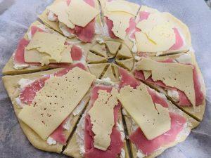 estrella de queso cortes