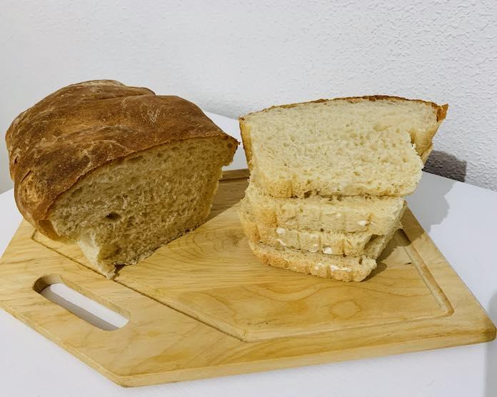 Receta de pan de molde con corteza