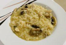 risotto con champiñones y pollo