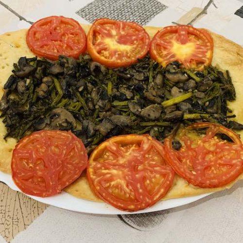 Torta de champiñones y espárragos con Thermomix en Las Recetas de Angy