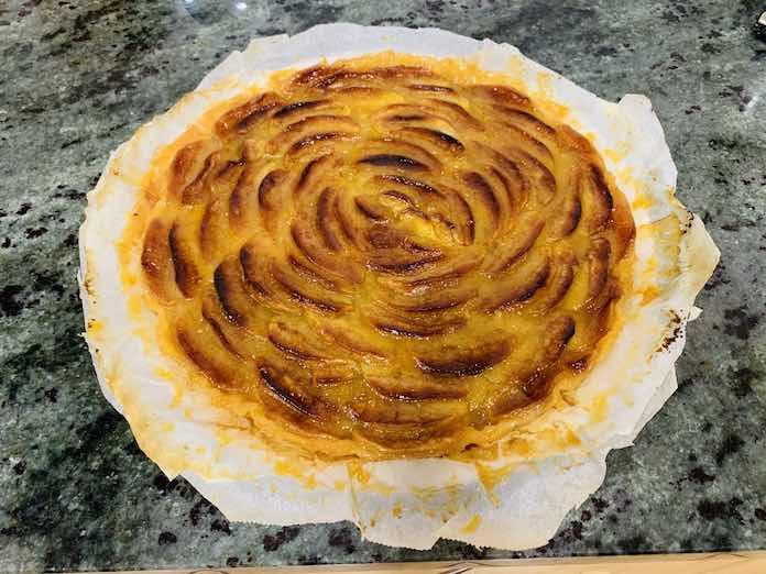 Tarta de manzana al horno de forma tradicional