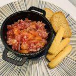 Tartar de fuet de forma tradicional en Las Recetas de Angy