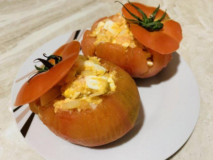 Tomates rellenos de forma tradicional en Las Recetas de Angy