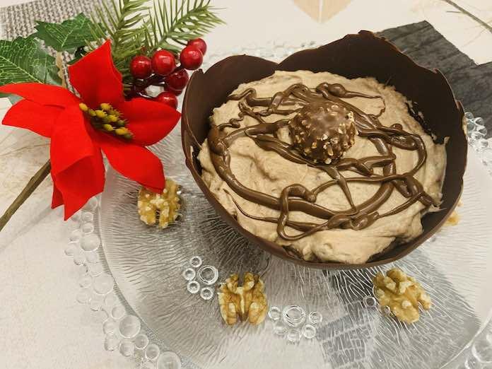 Canastillas de chocolate y crema de nutella y ferrero con Thermomix