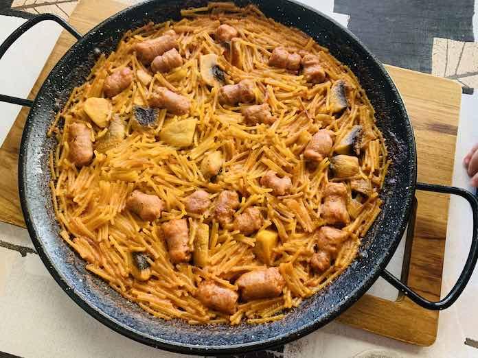 Fideos a la cazuela de forma tradicional en Las Recetas de Angy