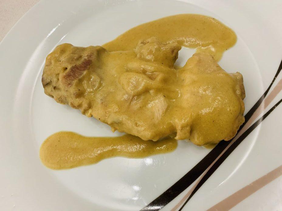 Pollo a la mostaza de forma tradicional
