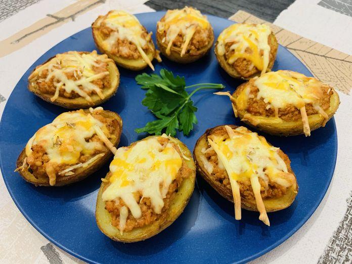 Patatas rellenas de boloñesa con Thermomix en Las Recetas de Angy