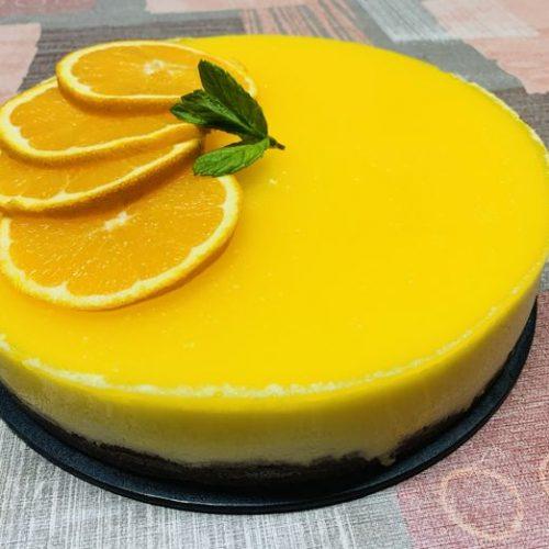 Tarta de naranja y queso crema con Thermomix en Las Recetas de Angy