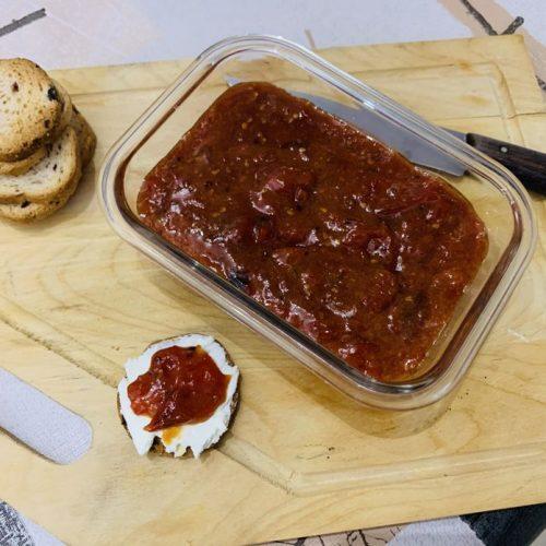 Mermelada de tomates cherry de forma tradicional en Las Recetas de Angy