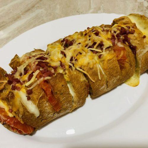 Pan de queso y tomate de forma tradicional en Las Recetas de Angy
