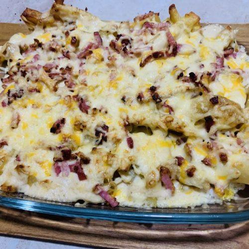 Patatas estilo fosters de forma tradicional en Las Recetas de Angy