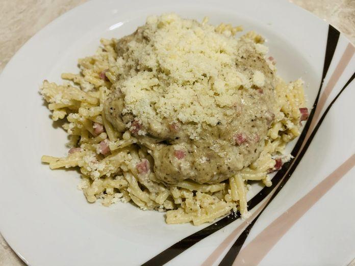 Pasta en salsa de setas, champiñones y trufa con Thermomix en Las Recetas de Angy