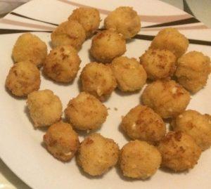 receta bolitas de pollo y queso